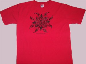 Red Horn  Screen Print Adult Size Large