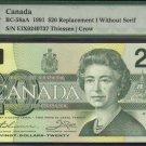 "1991 EIX  $20 ""replacement"" BANK OF CANADA PMG67 gem"