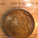 1889  O  $1 MORGAN SILVER DOLLAR  MS63   ICCS  CERTIFIED