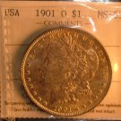 1901  O  $1 MORGAN SILVER DOLLAR  MS63   ICCS  CERTIFIED