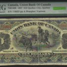 1907 $10  the UNION  BANK OF CANADA   PMG 10 rare QUEBEC issue