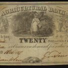 AGRICULTURAL BANK   1837   FOUR  piasters CANADA BANKNOTE