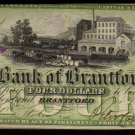 ONTARIO-Bank of Brantford $4 Nov. 1, 1859 Ch. 40-10-04-06  -BANKNOTES CANADA