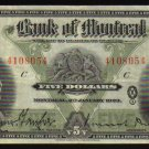 1923 $10 BANK OF MONTREAL  LARGE banknote