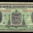 1935  Royal Bank of Canada $5 Very Fine  +  CANADA