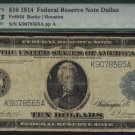 """USA $1914 $10   federal reserve note PMG vg10  """