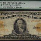 USA $10 1922 gold certificate much scarcer  MULE PMG vg10