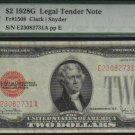 $2 1928 G United States Note RED SEAL  PMG 35