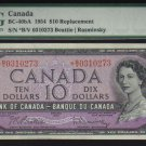 1954 replacement  *B/V  BANK OF CANADA  PMG  55 abt unc