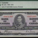 1937 $10   BANK OF CANADA   BC-24c    PMG 50 au