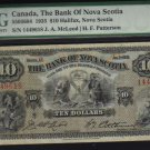 1935 $5the dominion bank  PMG 25 very nice