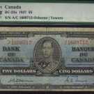 1937 $10  bank of canada  PMG 12  osborne/towers