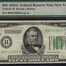 $50 1928 A NEW YORK federal reserve note Fr-2101 PMG 50