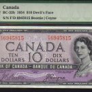 DEVILS FACE $10 BANK OF CANADA 1954 PMG 65 gem unc