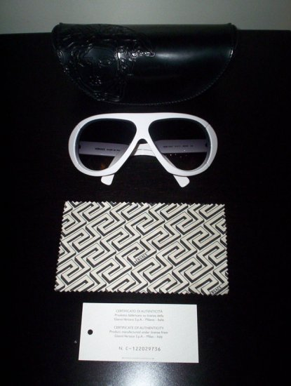 Authentic White Versace Sunglasses