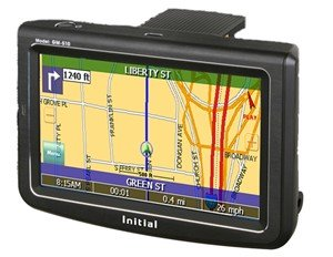 """INITIAL GM-510 5"""" PORTABLE NAVIGATION GPS/MP3 PLAYER-Free Shipping!!!"""