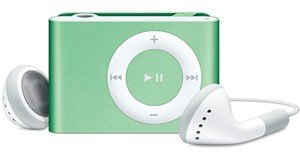 Apple iPod� shuffle 1GB MP3 Player-Light Green-Free Shipping