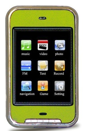 2GB TOUCH SCREEN PERSONAL MEDIA PLAYER (Green)-Free Shipping!!!