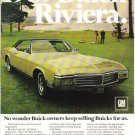1969 Buick Riviera vintage collectible color magazine ad