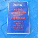 84 1984 GMC medium duty truck owners manual GM