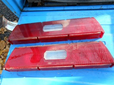 1973 1974 Ford LTD tail light lenses & center reflector 63K car NICE!!!