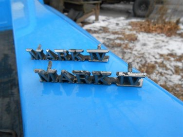 72 73 74 75 76 Lincoln Continental Mark IV fender emblems, pair