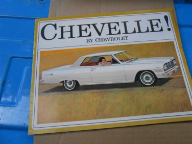 1964 Chevelle by Chevrolet color sales brochure  original GM not a reprint 8 pgs