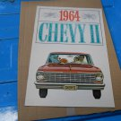 1964 Chevy II by Chevrolet color sales brochure  original GM not a reprint 4 pgs
