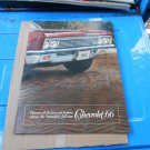 1966 Chevrolet full size color sales brochure  original GM not a reprint 12 pages