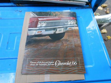 1966 Chevrolet full size color sales brochure  original GM not a reprint 12 pages