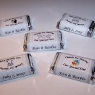 120 Personalized Wedding or Bridal Favor Miniature Candy Wrappers