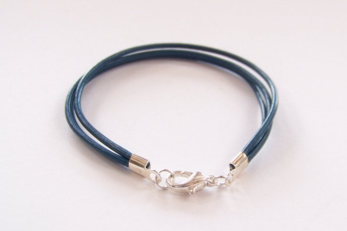 Blue Surfer Style Leather Bracelet