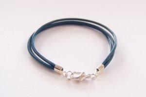 Blue Surfer Style Leather Bracelet