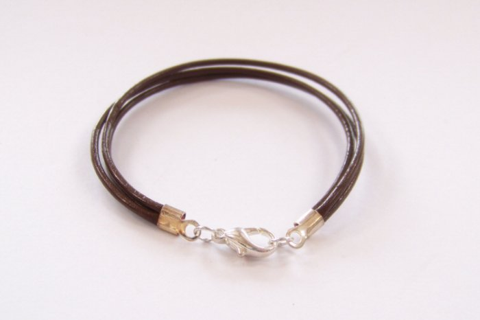 Brown Surfer Style Leather Bracelet