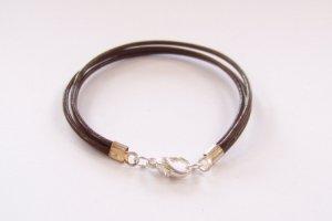 Brown Surfer Style Leather Bracelet