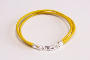 Yellow Surfer Style Leather Bracelet
