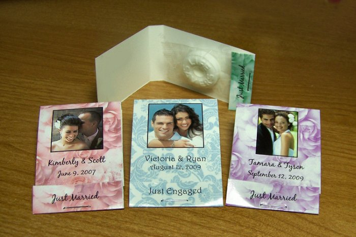 50 Personalized Wedding or Bridal Shower Mintbooks Mintbook Favors Glossy