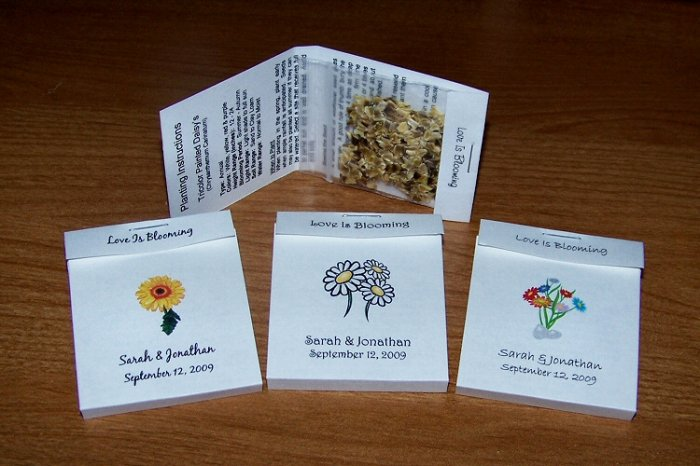 104 Personalized Wedding Wildflower Seed Packet Favors Style #2