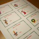 Christmas Gift Tag Labels Stickers (24 cnt)