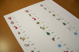Christmas Gift Labels 120 cnt