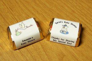 Personalized Baby Shower Hershey Nugget Candy Wrapper Favor Labels 120 cnt