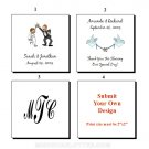 "2"" Personalized Square Wedding Favor Labels 100 cnt"