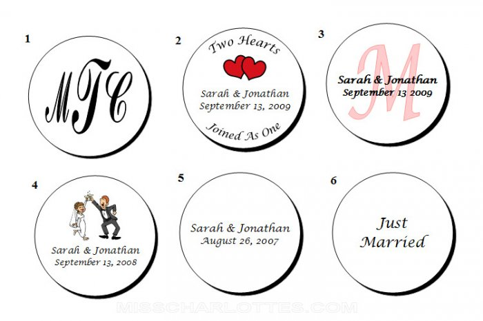 """1.67"""" Personalized Bridal Shower or Wedding Reception Round Favor Labels (120 cnt)"""