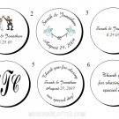"1.2"" Personalized Bridal Shower or Wedding Reception Round Favor Labels (192 cnt)"