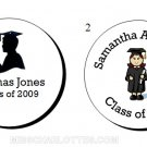 "1.2"" Personalized Graduation Party Round Favor Labels (192 cnt)"