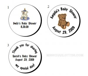 """1.2"""" Personalized Baby Shower Round Favor Labels (192 cnt)"""