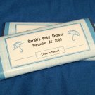 12 Personalized Baby Boy Shower Full Size Candy Wrappers #1