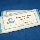 12 Personalized Baby Boy Birth Announcement Full Size Candy Wrappers #2