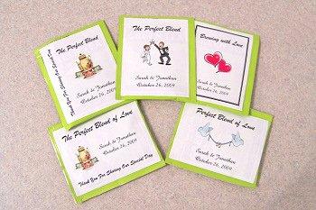 105 Personalized Wedding Rectangle Tea Bag Favor Labels