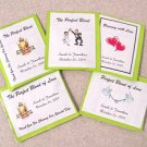 105 Personalized Wedding Rectangle Tea Bag Favor Labels